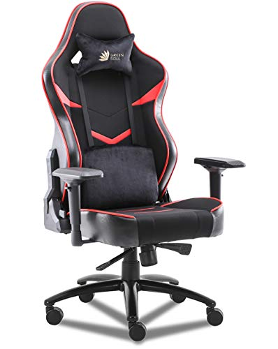 Green Soul® Monster Ultimate (S) Multi-Functional Ergonomic Gaming Chair (GS-734US) (Black & Red) (Large Size)
