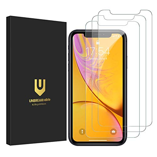 UNBREAKcable Panzerglas für iPhone 11 & iPhone XR Schutzfolie [3er Pack], 9H 2.5D Panzerfolie, Double Defense Bildschirmschutzfolie, Kratzfest, Anti-Fingerprint, blasenfrei, kofferfre&lich
