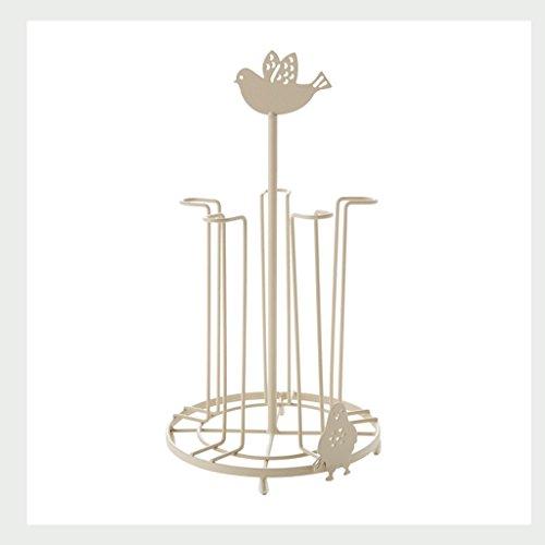 WXP Kitchen furniture - Fashion Creative Simple Cup Rack Home Cuisine Étagères de rangement Coffee Cups Porte-théière Porte-bagages en métal Rack de stockage Blanc Armoires et armoires de couteller