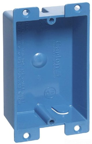 Carlon B108R-UPC Switch/Outlet Box, Old Work, 1 Gang, 3-5/8-Inch Length by 2-3/8-Inch Width by 1-1/4-Inch Depth, Blue