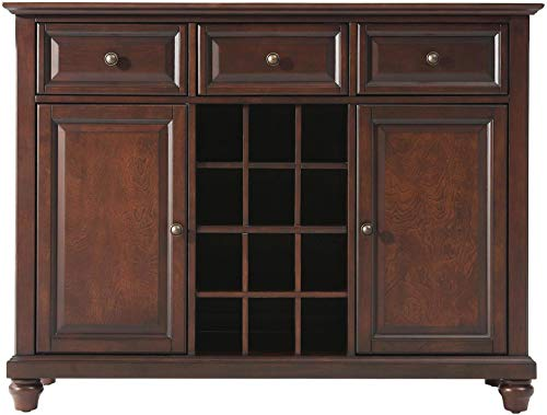 Crosley Furniture Cambridge Wine Buffet / Sideboard - Vintage Mahogany