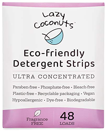 Lazy Coconuts Eco Friendly Laundry Detergent Strips - Fragrance Free...