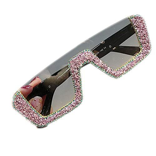 WERERT Sportbrille Sonnenbrillen Square Women Designer Sunglasses Ladies Oversized Rhinestone Sun Glasses Men Half Frame Eyeglasses UV400