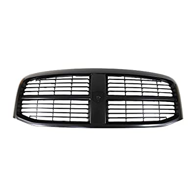 Perfit Liner New Replacement Parts Front Black Grille Compatible With DODGE RAM 06-08 Pickup Truck 1500 2500 3500 Fits CH1200280 5JY121SPAE