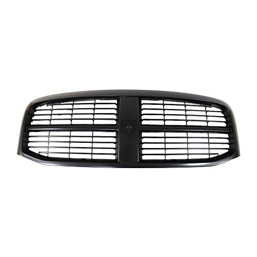 Perfit Liner New Front Black Grille Grill Replacement For 06-08 Dodge Ram Pickup Truck 1500 2500 3500 Fits CH1200280 5JY121SPAE