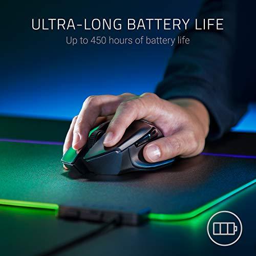 41VBc9capAL. SL500  - Razer Basilisk X HyperSpeed Wireless Gaming Mouse: Bluetooth & Wireless Compatible, 16K DPI Optical Sensor, 6 Programmable Buttons, 450 Hr Battery, Classic Black