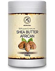 Unrefined Shea Butter 1000g - Cold Pressed - Africa - Ghana - 100% Pure & Natural Shea Butter Body Butter - Unrefined Raw - Intensive Care for the Face - Body - Hair