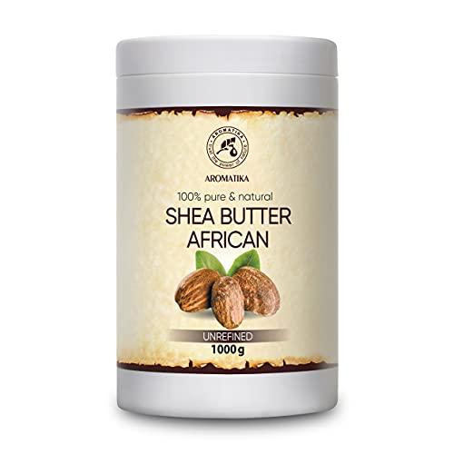 Burro di Karitè - 1000gr - Spremuto a Freddo - Butyrospermum Parkii - Pure e Naturale - Shea Butter Africano - Olio per Corpo e Capelli - Ideale per Pelle - Unghie...