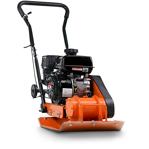 SuperHandy Plate Compactor Rammer 7 HP Gas Engine 4200-Pounds of Compaction Force Rammer Jumping Jack Tamper 20 × 15 Inch Plate for Paving Landscapes Sidewalks Patios EPA/CARB Compliant