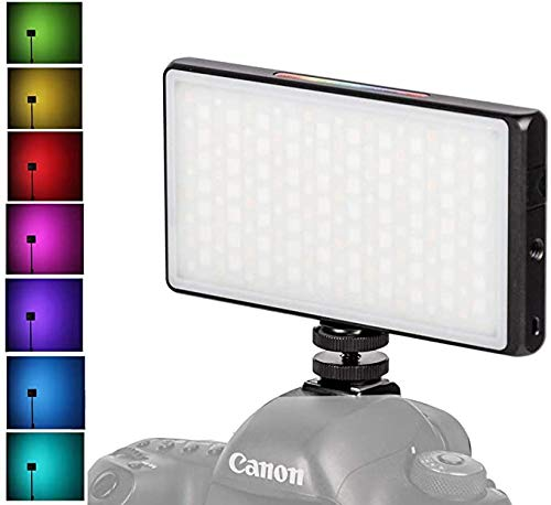fotowelt YY-C150 RGB Luce Video a LED CRI≥95, TLCI≥97, 2500K-8500K Mini luce videocamera per YouTube, DSLR, videocamera, foto Lighting