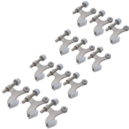 12-pack Hinge Pin Satin Nickel Heavy Duty Door Stops - 12 Hinge Pin Door Stop Hardware