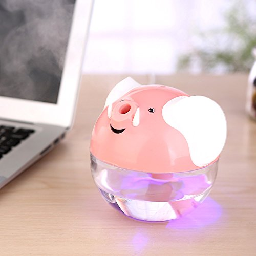 Auspicioso elefante USB humidificador humidificador Mini humidificador aromaterapia purificador de aire , pink , 109*100*97cm