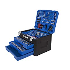 This popular 227-piece mechanic's tool set includes 117 commonly used 6- and 12-point sockets, 3 ratchets, 4 extensions, 30 combination wrenches, 40 hex keys and 33 other assorted tools New Improved Precise Pro90 Ratchet 90-tooth gear delivers a 4° p...