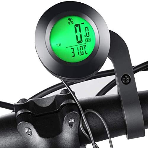 NEWMAN771Her - Cuentakilómetros multifunción inalámbrico para bicicleta, cuentakilómetros con pantalla LED, luz...