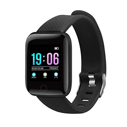 KOLP Smartwatch, Fitness Armband Tracker, Aktivitätstracker IP67 Wasserdichter Schrittzähler Kompatibel mit i-OS Android, Sportuhr Smart Watch für Damen und Herren