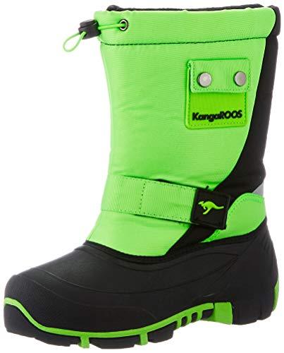 KangaROOS Kanga-Bean II Schneeschuh, Grün (Neon Green/Jet Black 8028), 36 EU