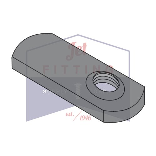 10-32 Tab Weld Nuts   Offset Hole Design Without Projections   Steel   Plain Finish (QUANTITY: 1000)