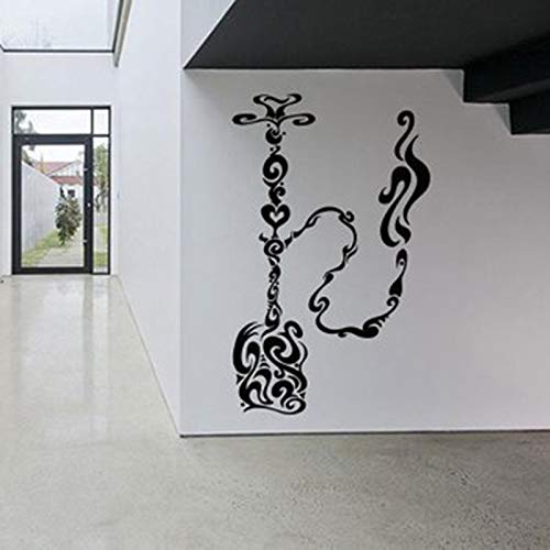 Shisha Zeichen Vinyl Aufkleber Shop Shop Wanddekoration Outdoor Café Dekoration Aufkleber Haus und Garten42x68cm