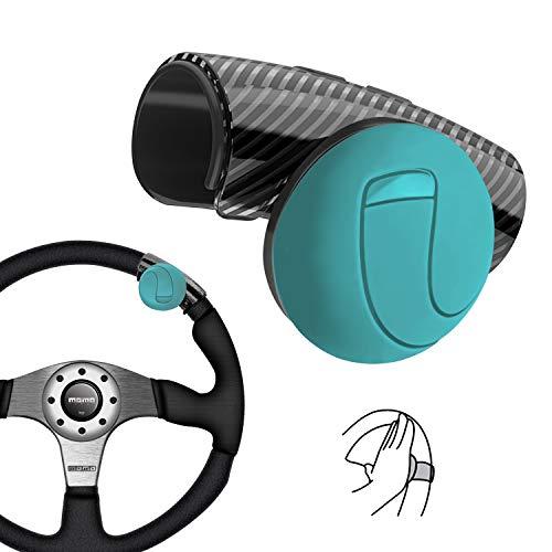 Universal Lenkrad Knopf, Mühelos Drehen, Geräuschlos, Flexible Steuerung für Auto Traktor LKW Boot (Blau)