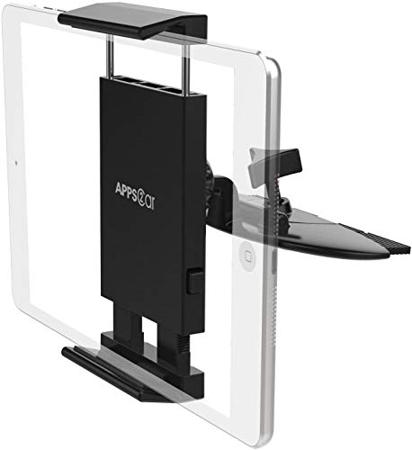 APPS2Car Soporte 360 para Tablet de 7-11 pulgadas Soporte universal para iPad 9.7, 10.5, iPad Air Mini 2 3 4,iPhone