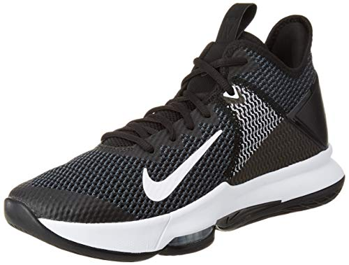 Nike Lebron Witness IV, Zapatillas para Hombre, Black/White/Iron Grey/Pure Platinum, 45 EU