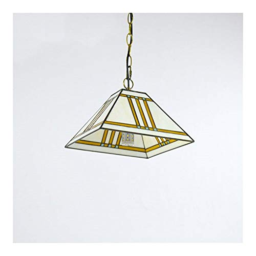 Tiffany Lamp Shade Tiffany Chandeliers Tiffany Style Lámpara colgante de 12 pulgadas Manchado colgante Lámpara de techo Lámpara de techo Lámpara de vidrio Mosaico para comedor Sala de estudio de la sa