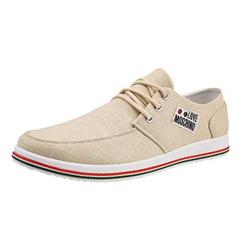 Goddessvan Fashion Men Shoes Outdoor Casual Canvas Shoes Men's Club MEMT Classic Sneaker Beige