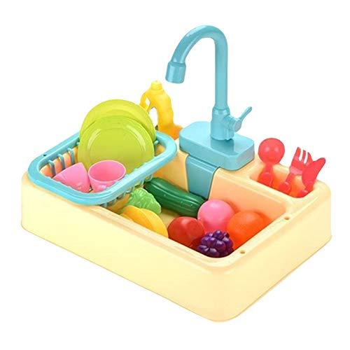 HSD Lavabo analógico eléctrico para lavavajillas, juego de rol para niños, juego de cocina, juguete, tamaño del producto aprox. 34,5 x 26 x 8,5 cm