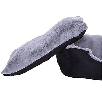Lit pour chien – Coussin pour chien – Panier pour chien avec coussin réversible (taille et couleur au choix) 50x37x17 cm gris / noir