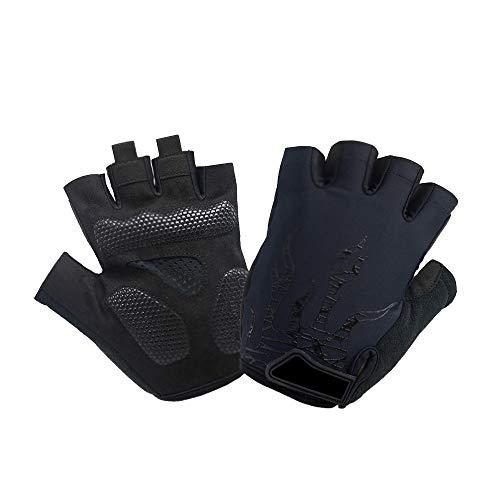 Guantes de ciclismo de medio dedo, transpirables, antideslizantes, absorción de golpes, para...