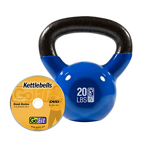GoFit Premium Vinyl Dipped Kettle Bell with Introductory Training DVD...