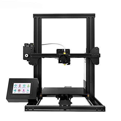 Cotangle-EL 3D-Drucker Haushaltskleinkinder 3D-Drucker Desktop-Aluminium-DIY-Drucker mit Resume-Druckfunktion for Gewerbe Industriegüter Praktisch (Farbe : Schwarz, Größe : 42.3x46x47cm)