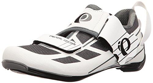 Pearl iZUMi Women's W TRI Fly Select V6 Cycling Shoe White/Shadow Grey 39 EU/8 B US