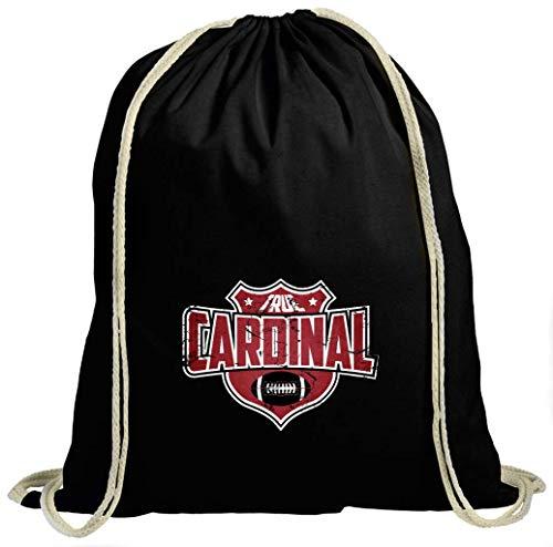 True Cardinals American Football Big Red Arizona Super Bowl Turnbeutel Unisex Gymbag, Größe:37cm x 46 cm, Farbe:Schwarz (Gymbeutel)