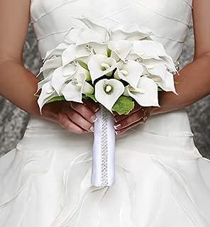 David Tutera White Satin Bouquet Wrap with Rhinestones