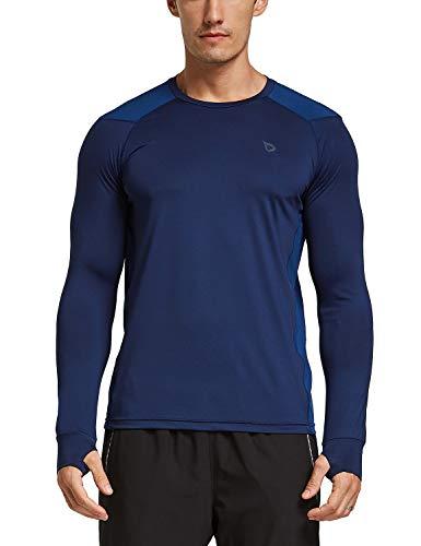 BALEAF Men's Athletic Long Sleeve Shirts Lightweight Running Fishing Hiking...