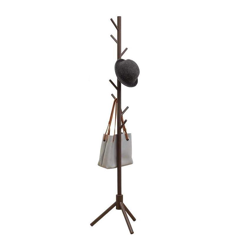 ご近所電信印象的なFNCOAK 服のスカーフと帽子のための8つのフックと固体の足を持つ木製の木型のディスプレイコートスタンドに立っている無料のコートラック