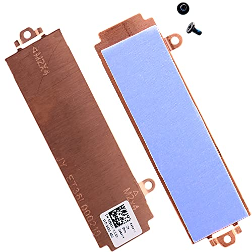 Deal4GO Slot 2/Slot 1 M.2 2280 SSD Heatsink Cover 026X1Y 26X1Y Thermal Support Bracket for Dell G15 5510 5511 5515 Alienware M15 R5 M15 R6 Gaming Laptop