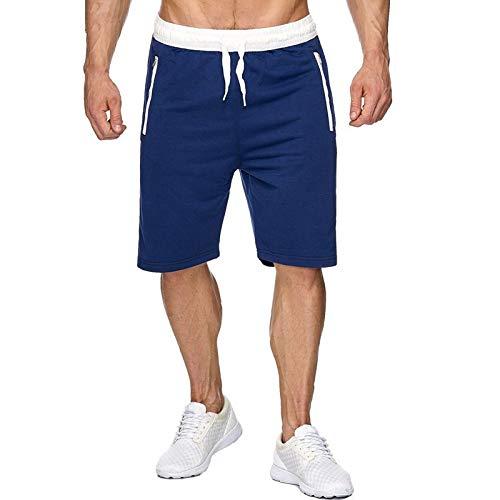 Pantalones Cortos para Correr para Hombre, Entrenamiento Deportivo, Pantalones de Gimnasia de Verano, Pantalones Cortos de Entrenamiento de Fitness Delgados de Moda Informal elásticos de Cintura XL