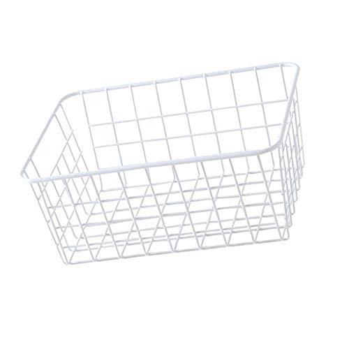 P Prettyia Mehrzweck Metallkörbe Wäschesammler Aufbewahrungskorb Drahtkorb, 28.5X22X12cm - Weiß ohne Einlage