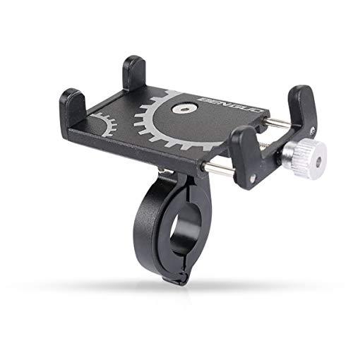 Zeroall Porta Cellulare Bici Universale Porta Telefono per Bici Regolabile Supporto Telefono Moto Bicicletta Lega di Alluminio Porta Cellulare per Smartphone da 3,5-6,5 Pollici(Nero)