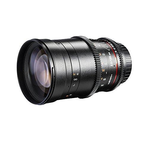 Walimex Pro 135mm f/2.2 - Objetivo para Nikon (Apertura f/2.2-22), Negro