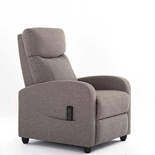 Recliner Chair Massage Single Sofa Living Room Fabric Armchair, Home Theater Seating Reading...
