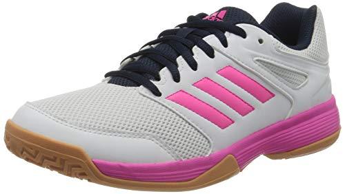 adidas Womens Speedcourt Indoor Court Shoe, Footwear White/Shock Pink/Collegiate Navy