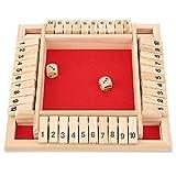 Juego de mesa de madera, práctica matemática simple que mejora las habilidades sociales básicas Hermoso juego de dados Shut the Box, para KTV Bar