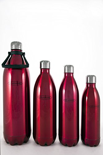 Water Bottle Stainless Steel. ATLASWARE Thermoses/Flask. Double Wall Vacuum Insulated, Wide Mouth. Red,34oz Thermos Techology (1 liter), Double Wall Vacuum. Thermos Techology (Sold as Singles)