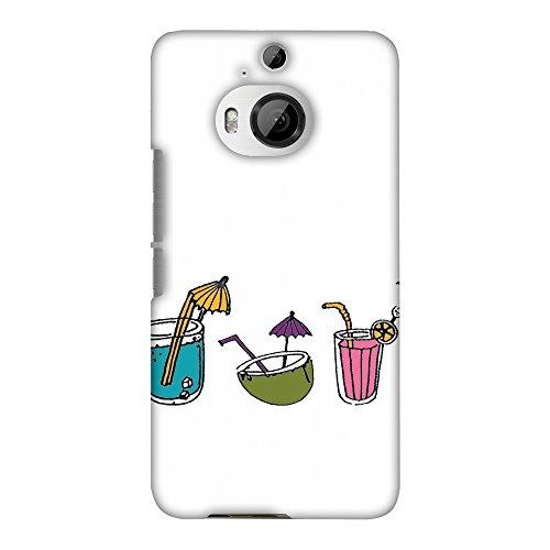 Hartschalen-Schutzhülle für HTC One M9 Plus (dünn, handgefertigt, zum Aufstecken, für die Rückseite, Motiv Sommer-Schnuller, transparent)