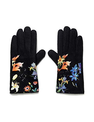 Desigual Womens FLOWERISH Cold Weather Gloves, Black, U
