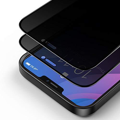 Bewahly Privacy Panzerglas Schutzfolie für iPhone 12 Pro Max 6.7