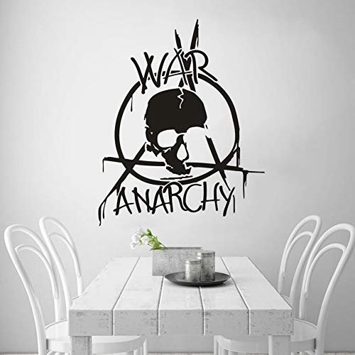 Geiqianjiumai Krieg Anarchie Zeichen Wandaufkleber Abnehmbare Vinyl Wandtattoo Innendekoration Home...